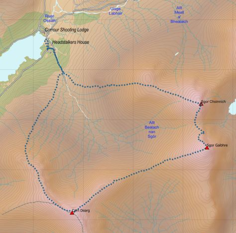 Dearg-Gaibhre route