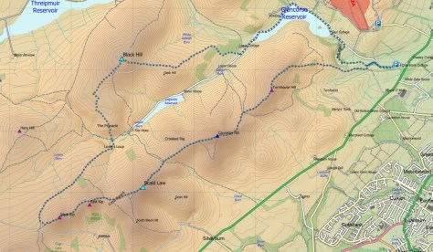 Pentlands South route