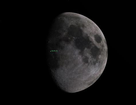 Moon phase during Apollo 14 landing