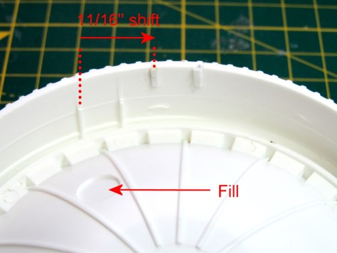 Revell 1/96 S-II locating strips