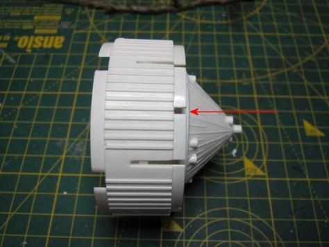 Revell 1/96 S-IVB locator slot