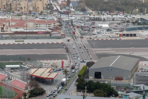Road crossing runway, Gibraltar