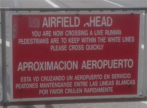 Runway crossing, Gibraltar