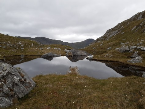 Summit pool on Sgurr an Utha