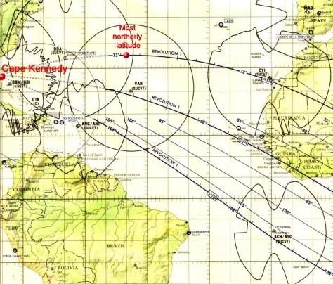 Detail of Apollo11 Earth Orbit chart