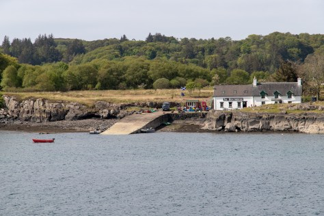 Ulva boathouse from mainland