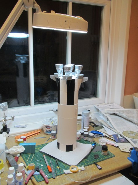 Revell 1/96 Saturn V S-IC on workbench