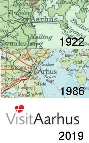 Spelling of Aarhus in 1922, 1986, 2019