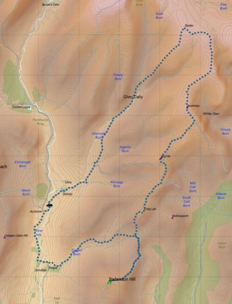 East Glen Isla route OSM