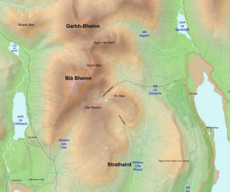 Blaven with OSM tracks