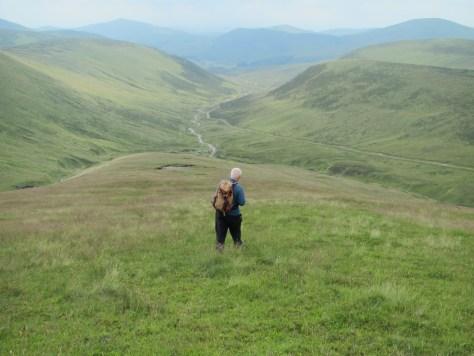 Descending Sron Deirg into Glen Cally