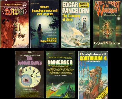 Covers of Edgar Pangborn's Darkening World cycle