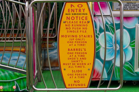 Greengrocer's apostrophe in fairground