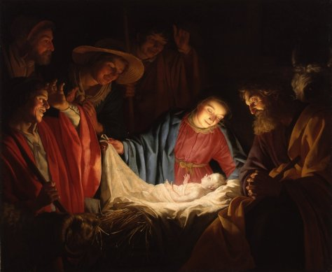 Adoration of the Shepherds by Gerard van Honthorst (1622)