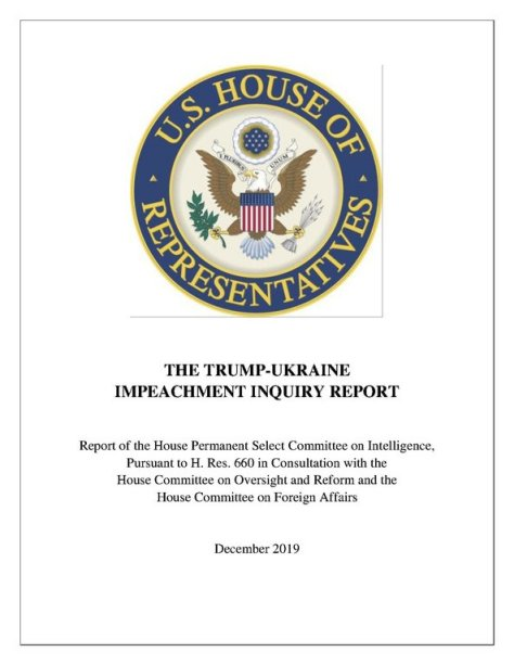 Cover of Trump-Ukraine Impeachment Inquiry Report