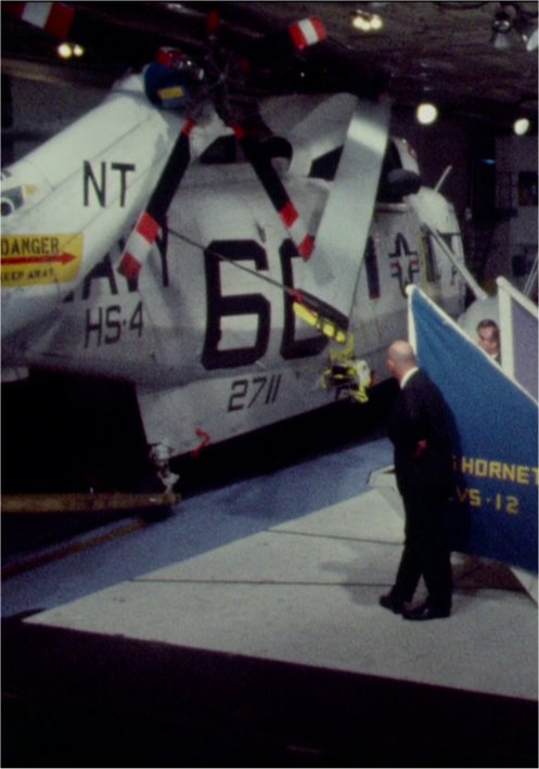 "Detail showing port side of tail, ""Old 66"" Apollo 11 recovery"