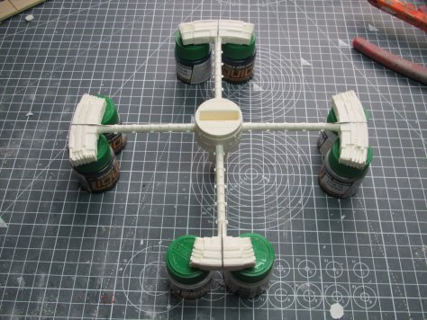 Fantastic Plastic Space Station V partial ring assembled