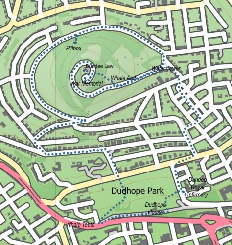 Dundee Law route