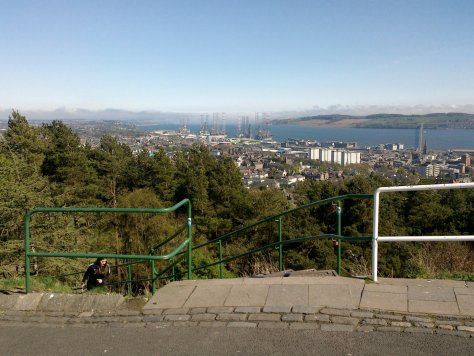 Steps on Dundee Law