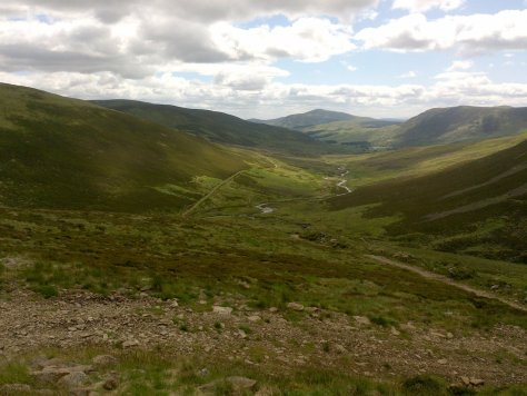 Glen Cally from Sron Meadhonach