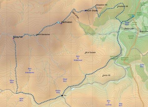 Clachnaben route