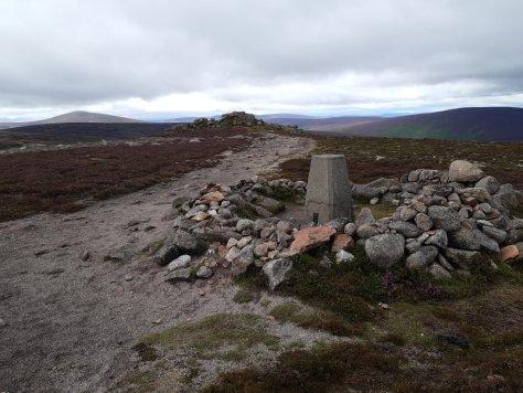 Summit of Clachnaben, looking west to Mount Battock