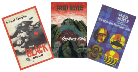 Covers of three Fred Hoyle novels