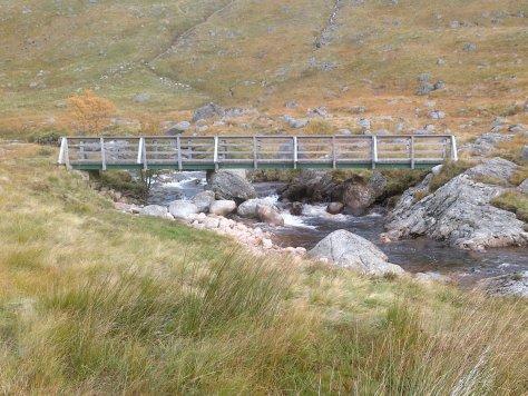 New bridge above Moulzie, Glen Clova