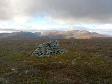 Broad Cairn and Lochnagar from Ferrowie