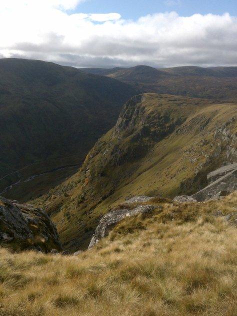 Juanjorge crag from above Moulzie Craig