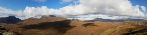 Coigach panorama from Knockan Crags