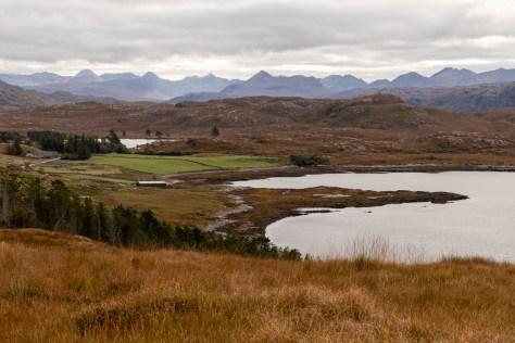 Torridon and Flowerdale hills across Loch Ewe