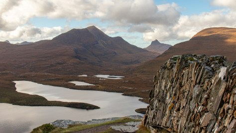 Cul Beag and Stac Pollaidh from Knockan Crag