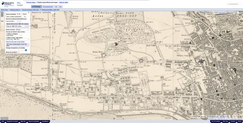 Screenshot of National Library of Scotland georeference maps