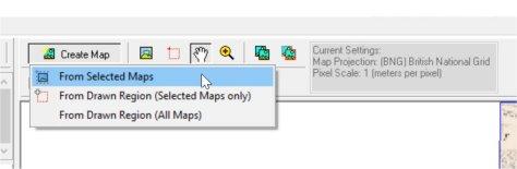 Creating map in OziExplorer Map Merge