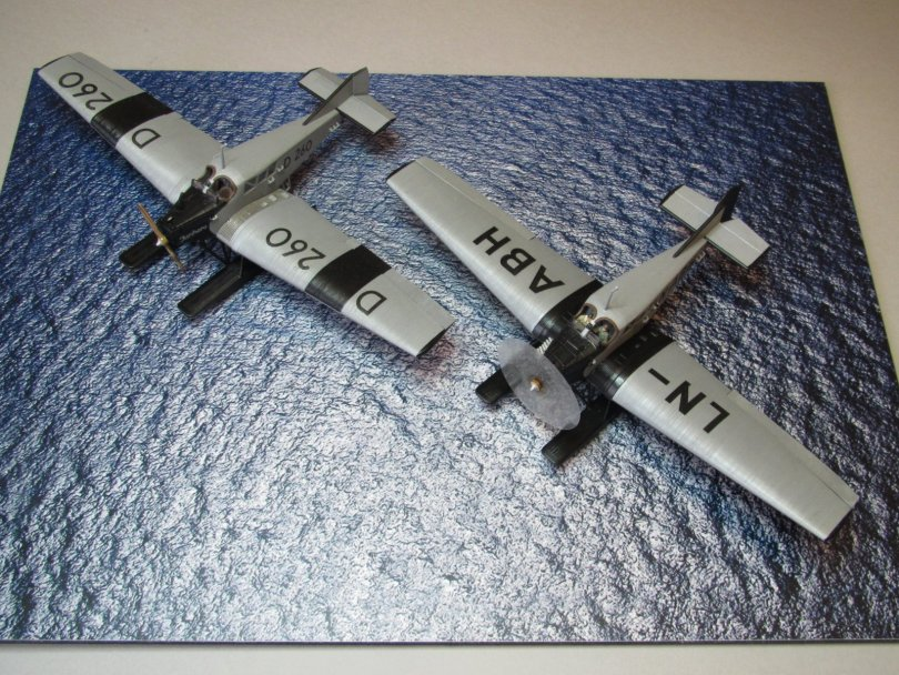 Revell 1/72 Junkers F13 LN-ABH & D 260 completed 2