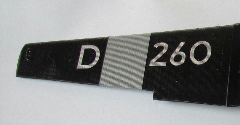 D 260 decals