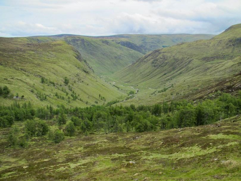 Bachnagairn and upper Glen Clova
