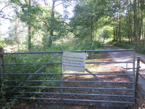 Gate sign at Old Faskally