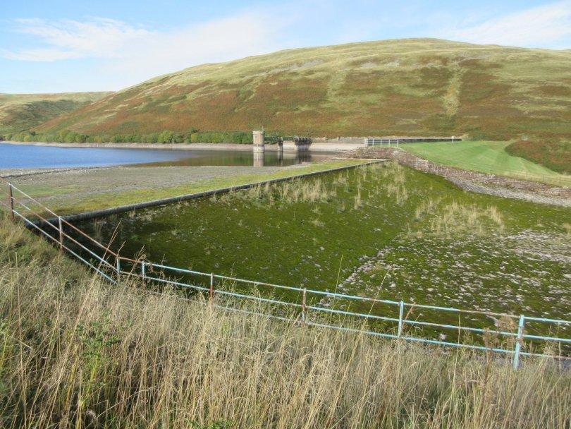 Lower Glendevon Reservoir spillway