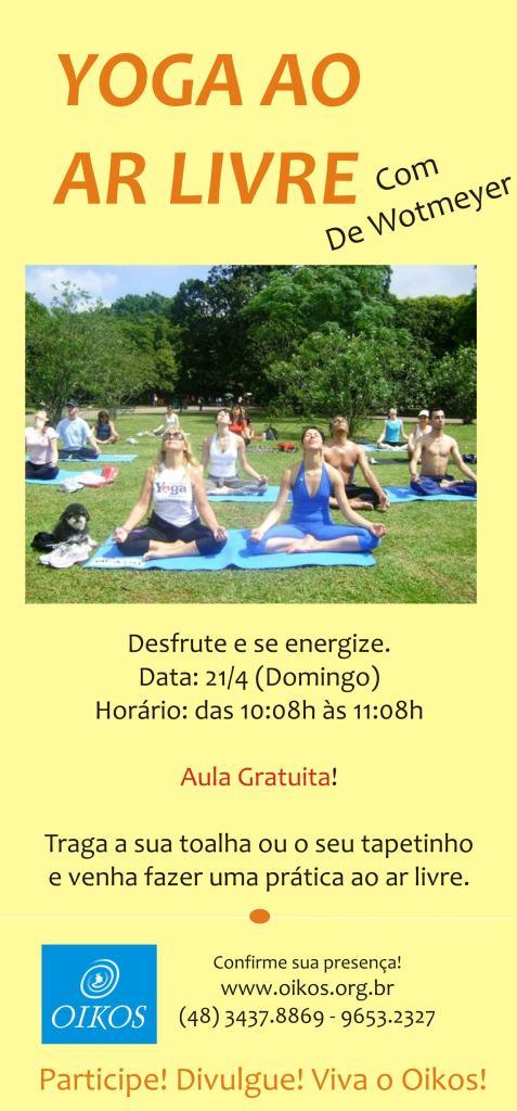 Yoga ao ar livre dia 21