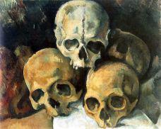 Pyramid-of-Skulls-by-Paul-Cezanne