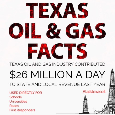 Texas Oil and Gas Industry Contributed $26 MILLION A DAY to state and local revenue last year.