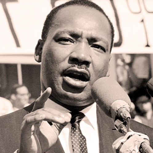 Dr. Martin Luther King - in 1960 the Civil Rights Movement was just ge