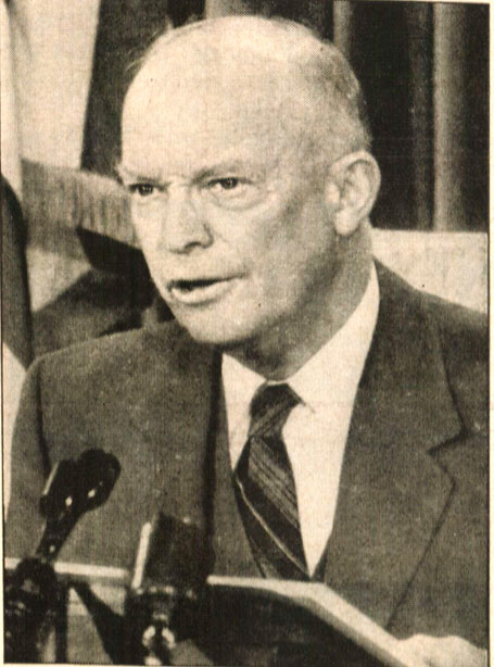 President Eisenhower - discussing a concept as foreign as Martian Land Rights these days.