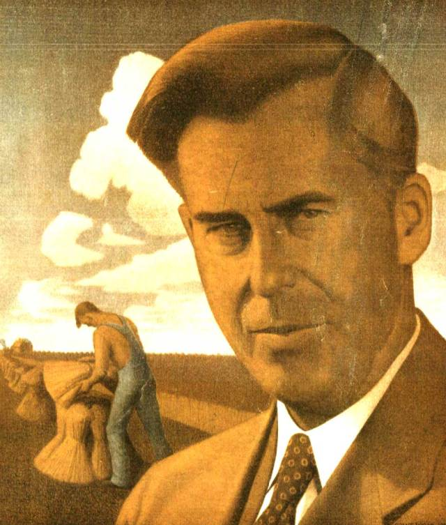 Before he was vice-President, Henry Wallace was Secretary of Agriculture.