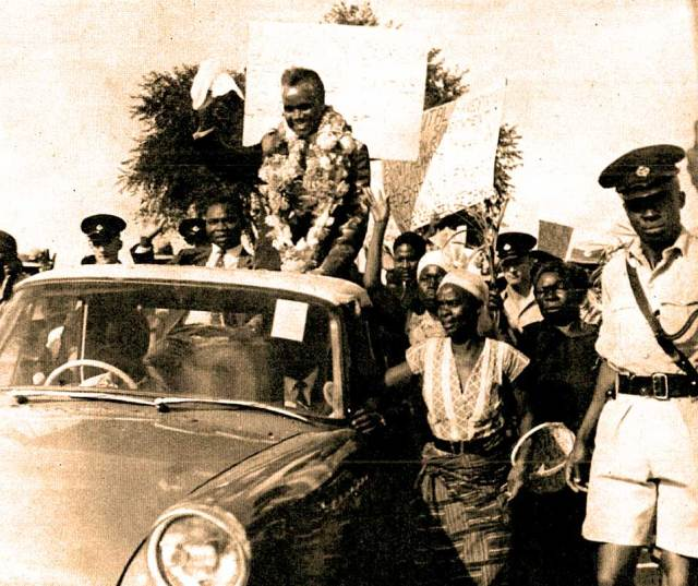 Kenneth Kaunda of newly independent Northern Nigeria. The times in 1963, they were a-changin'.
