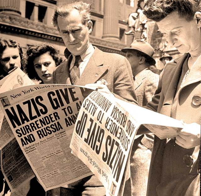 After days of speculation and false rumors, VE Day finally arrived.