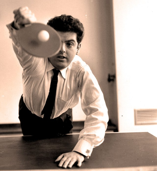 Daniel Barenboim - if the piano gig didn't work out, there was always Ping-Pong.