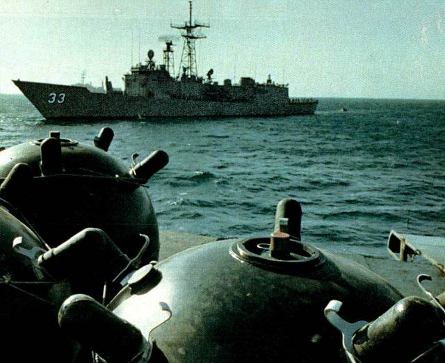 Meanwhile . . .back in the Persian Gulf - hunting for mines.
